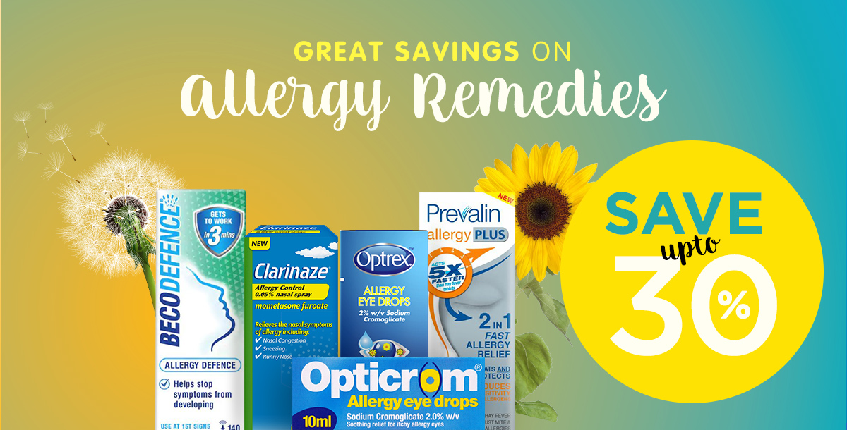 Save up to 30% off Hayfever Remedies