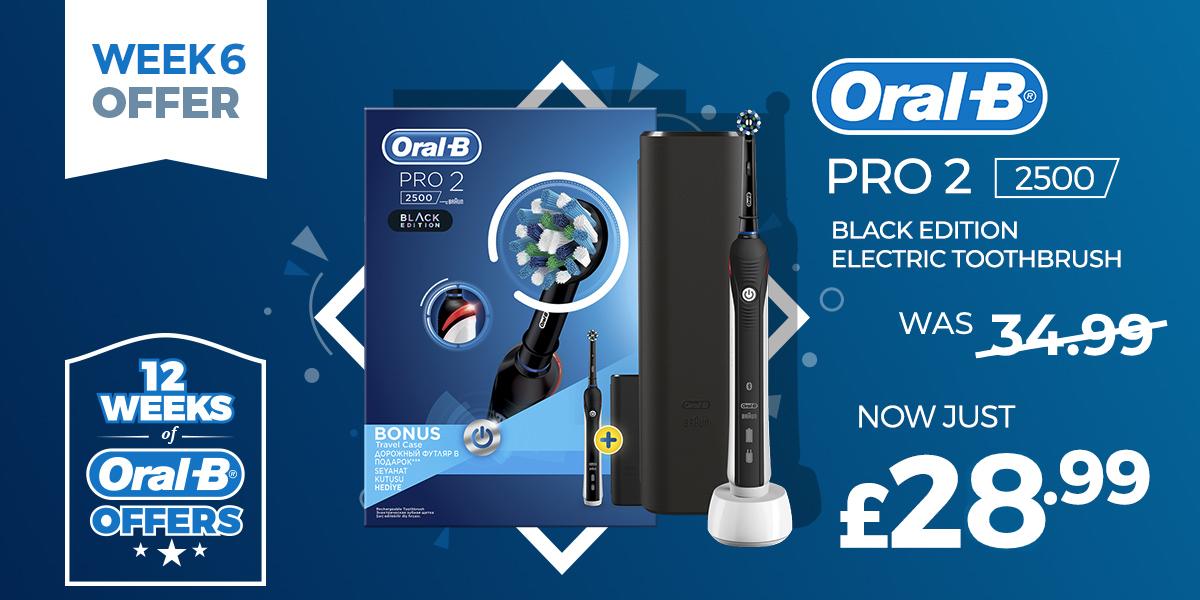 Oral-B Pro 2 2500 Black Edition Toothbrush