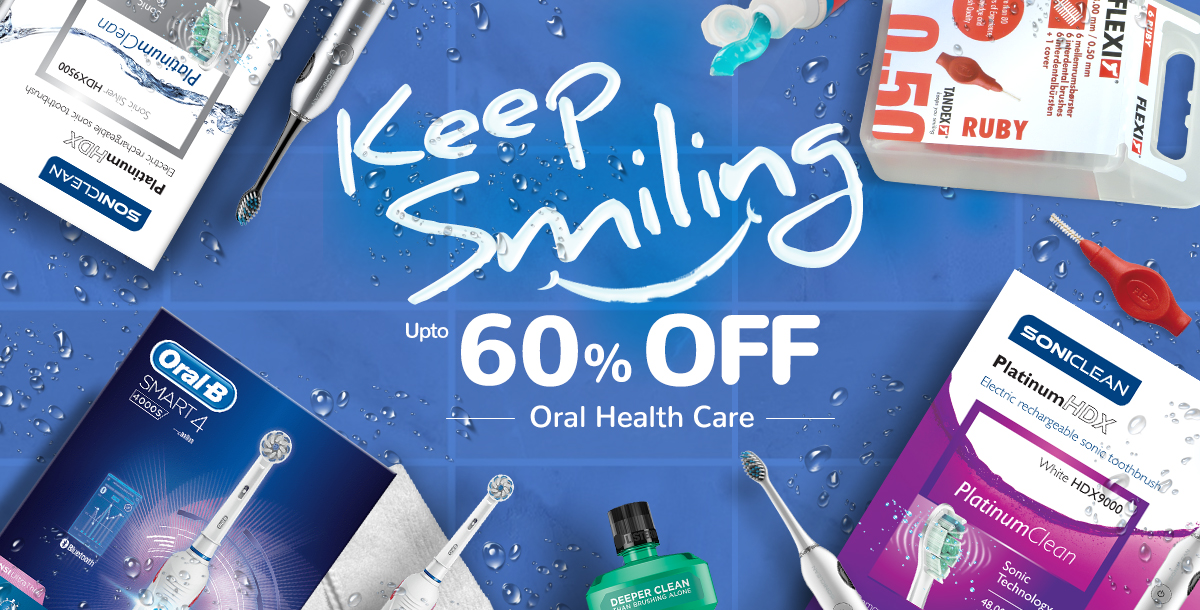 Save up to 60% on Oral Health Brands