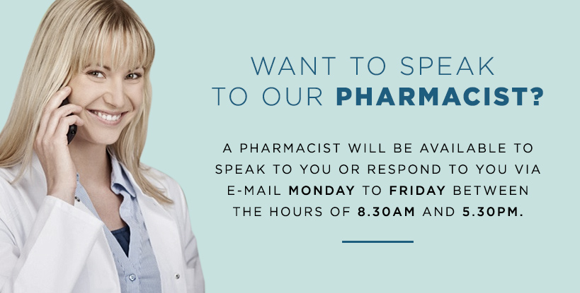 Want to speak to our pharmacist