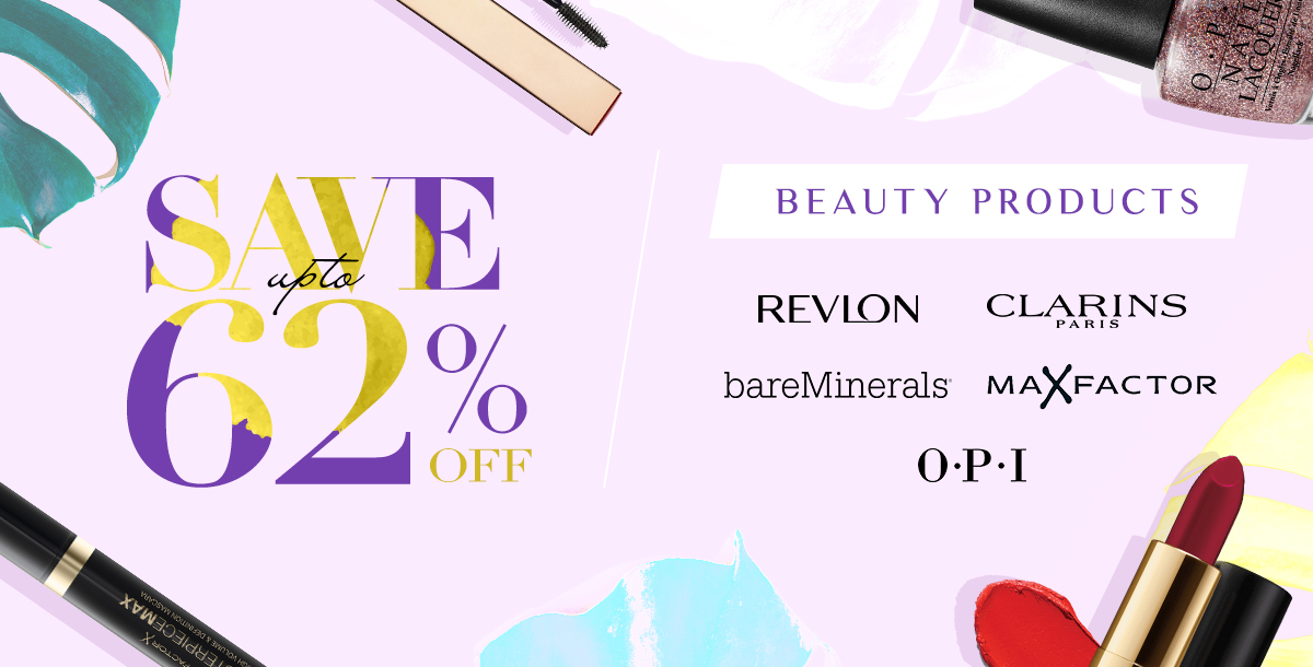 Save up to 62% Off Beauty Products