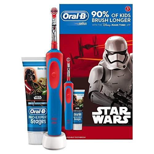 OralB Stages Power Kids Electric Toothbrush Featuring Star Wars...