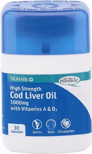 Numark High Strength Cod Liver Oil (1000mg)