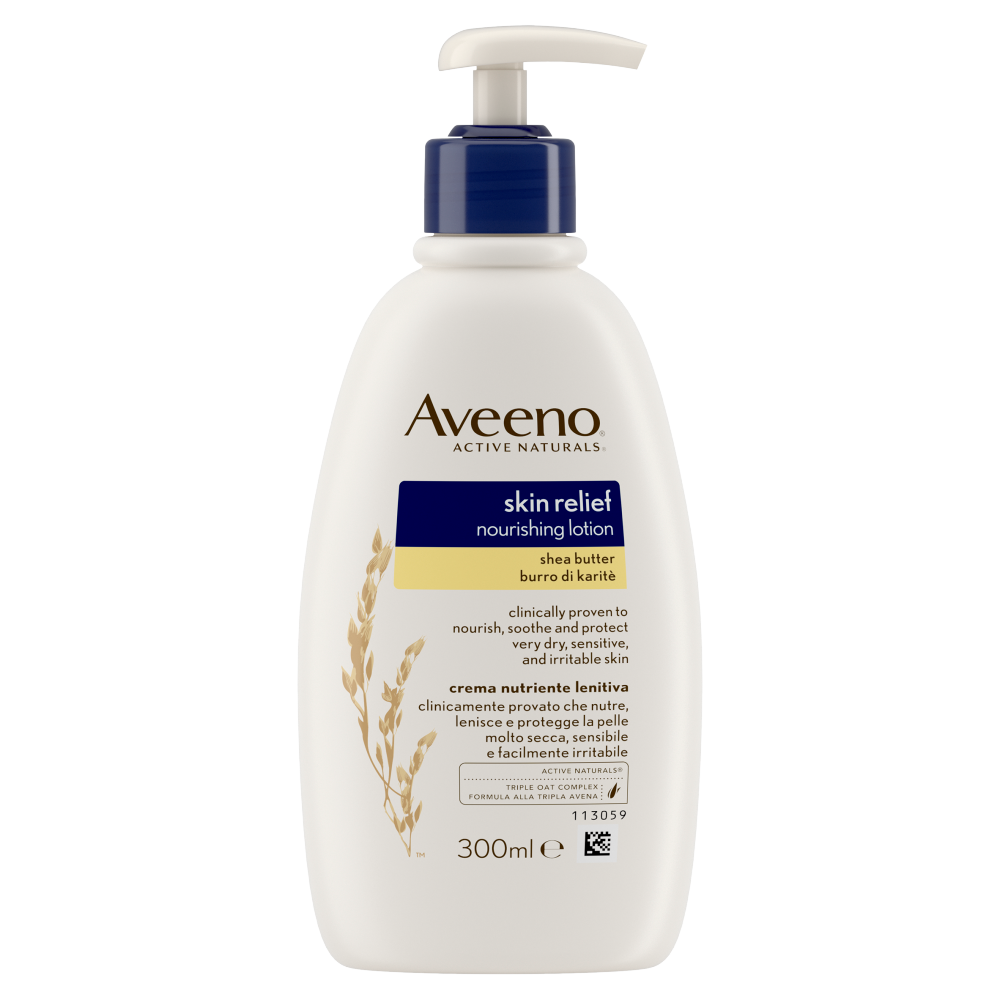 Aveeno Skin Relief Moisturising Lotion Shea Butter 300ml