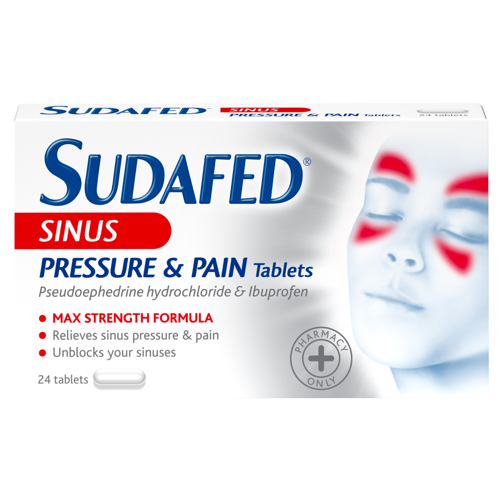 Sudafed Sinus Pressure And Pain 24 Tablets