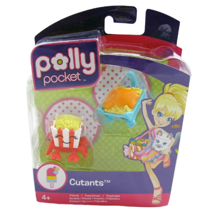 Polly Pocket Cutants Friends Popcrab & Nachocat Figure Toy Accessory