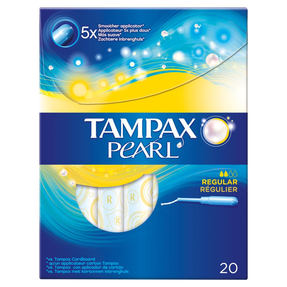 Tampax Pearl 20 Regular Tampons