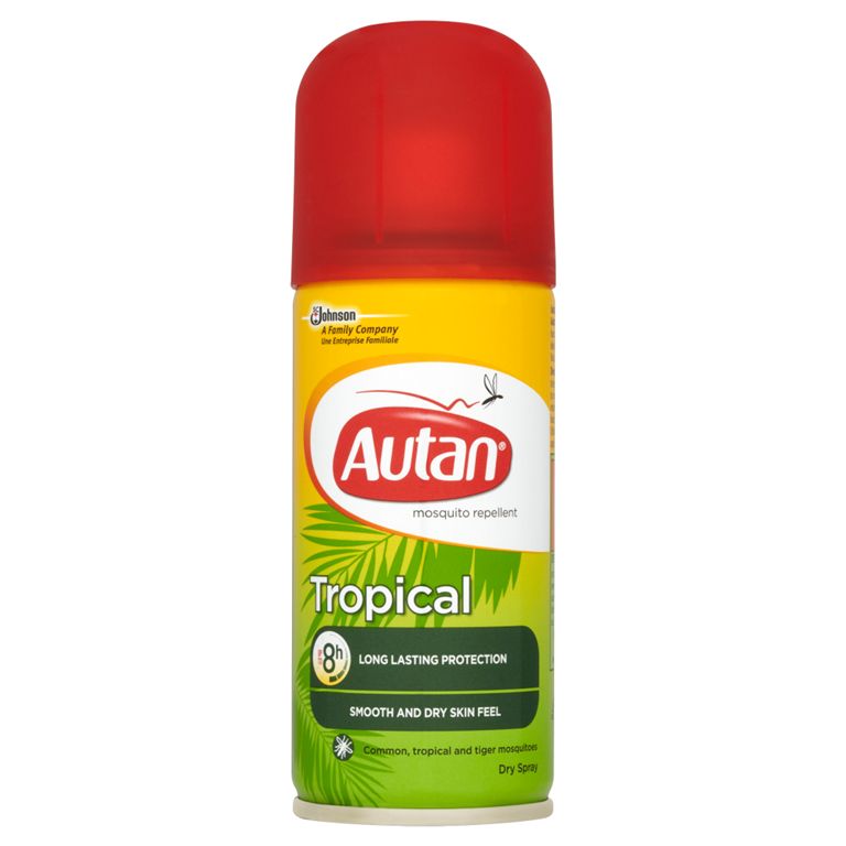 Autan Tropical Mosquito Repellent Dry Spray 100ml