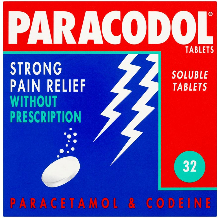 Paracodol Codeine Paracetamol 32 Soluble Tablets