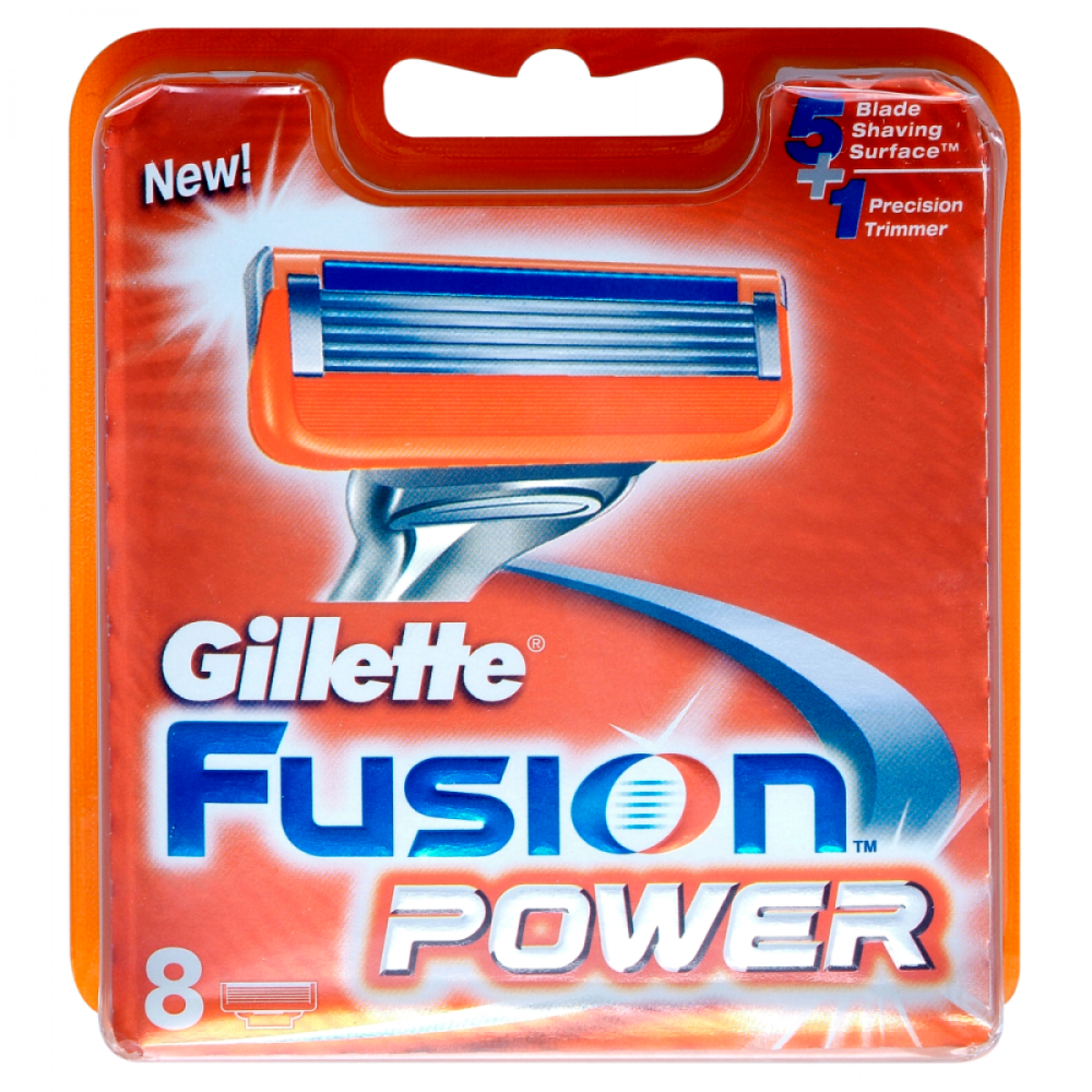 Gillette Fusion Power Razor Blades Replacement 8 Pack