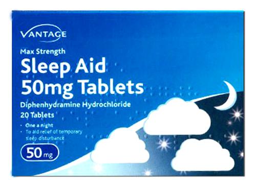Vantage Sleep Aid Tablets 50mg 20 Tablets