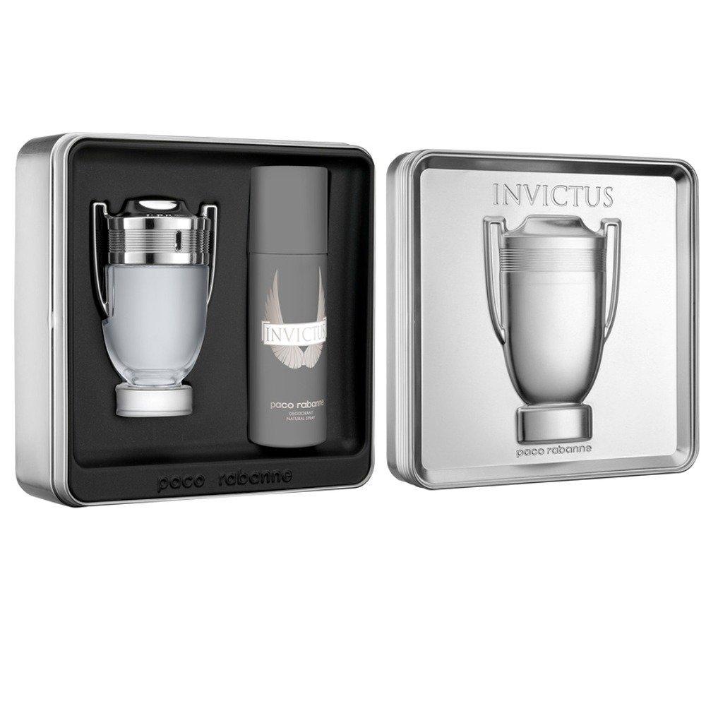 Paco Rabanne Invictus EDT 100ml  Deodorant Spray 150ml Gift Set