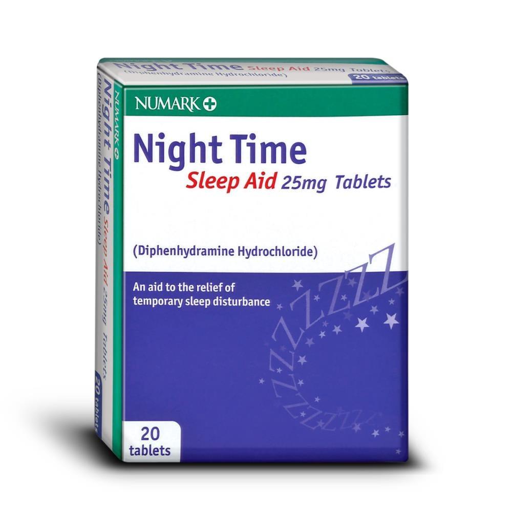 Numark Night Time Sleep Aid 25mg 20 Tablets