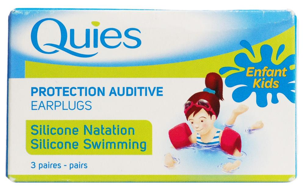 Quies Childrens Silicone Swimming Ear Plugs 3 Pairs