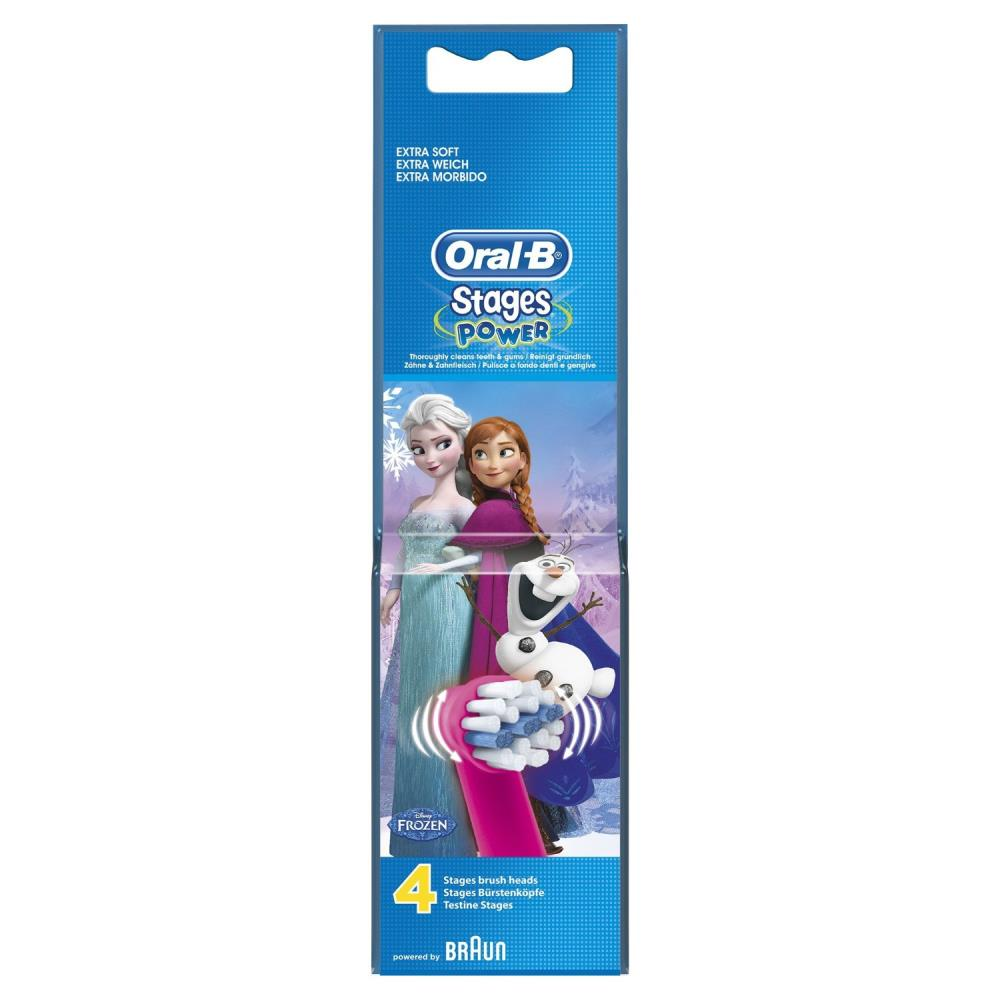 OralB Stages Kids Frozen Replacement Toothbrush Heads Pack of 4