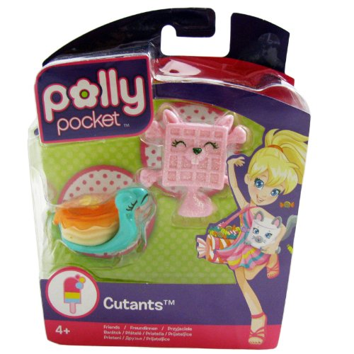 Polly Pocket Cutants Friends Snail Pancake & Squirrel Waffle Toy...