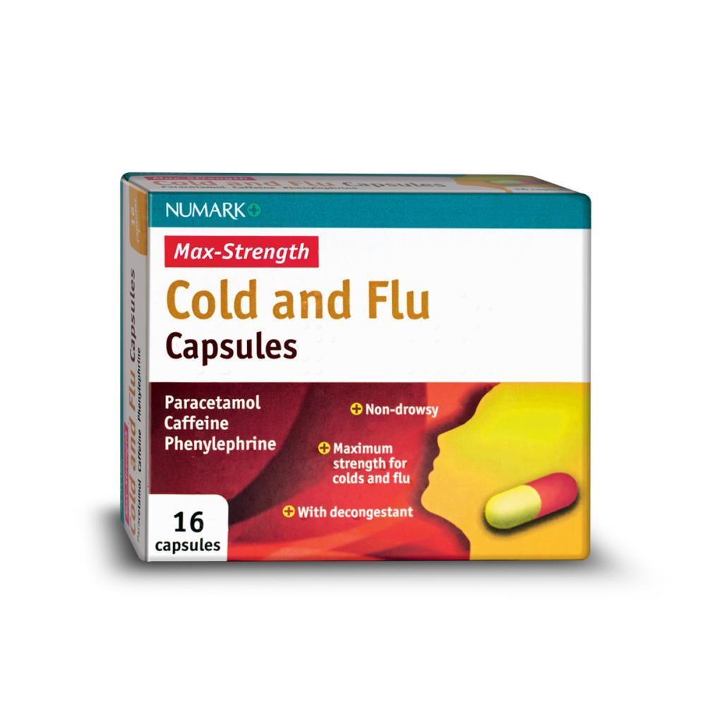 Numark Max Strength Cold Amp Flu Capsules 16 Capsules