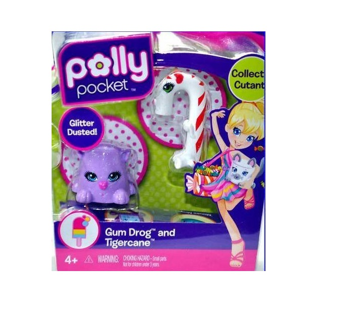 Polly Pocket Cutants Gum Drog and Tigercane by Mattel