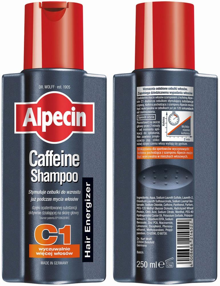 Alpecin C1 Caffeine Hair Energizer Shampoo For Reduced Hair Loss 250ml