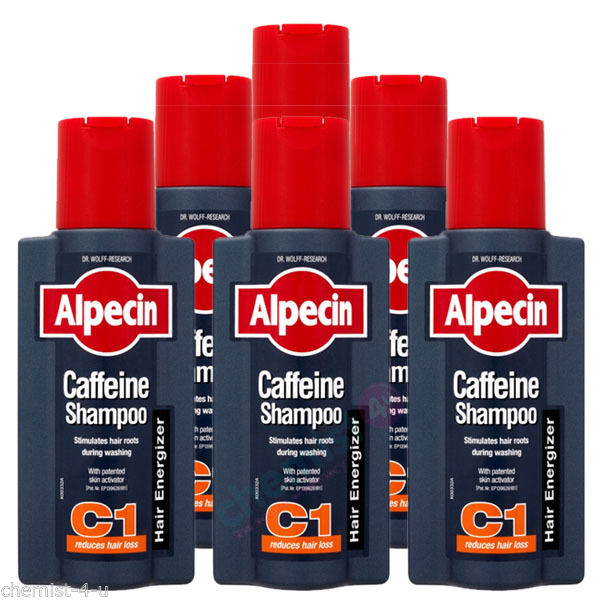 Alpecin C1 Caffeine Shampoo For Reduced Hair Loss 250ml  Pack of 6