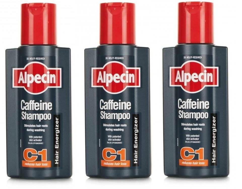 Alpecin C1 Caffeine Shampoo For Reduced Hair Loss 250ml  Pack of 3