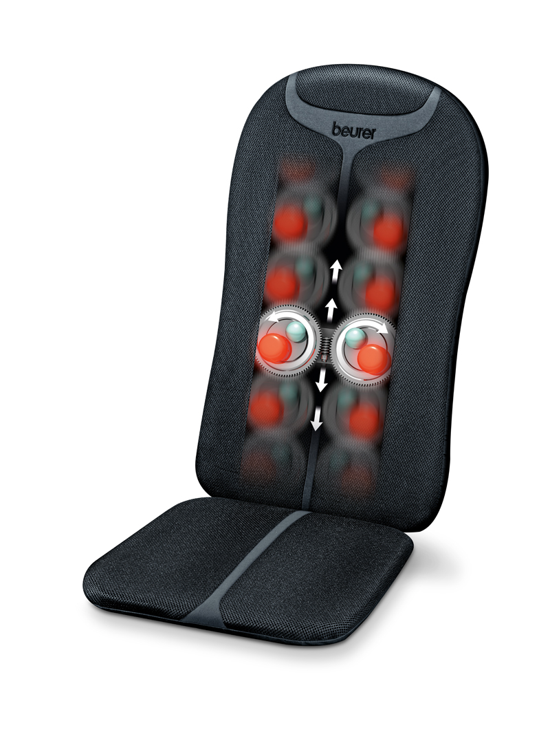 Beurer MG204 Easy To Operate Shiatsu Relaxing Back Massager Seat Cover