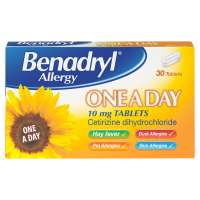 Benadryl Allergy 10mg One a Day Tablets – 30 Tablets