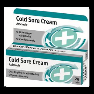 Aciclovir Cold Sore Cream - 2g (Brand May Vary)