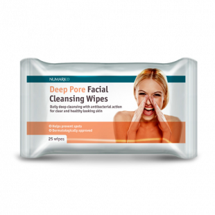 Numark Deep Pore Cleansing Facial Wipes 25