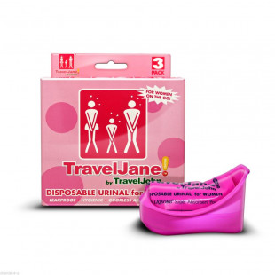 TravelJane Disposable Reusable Urinal - 3 Pack