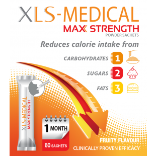 XLS Medical Maximum Strength Weight Loss Sachets - 60 Pack