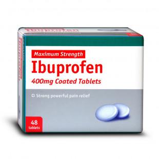 Ibuprofen - 48 x 400mg Tablets (Brand May Vary)