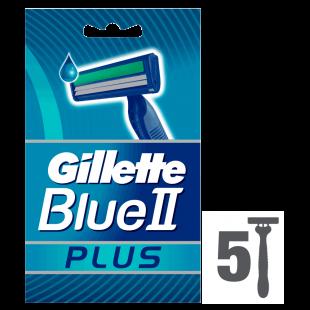 Gillette Blue II Plus Disposable Razors – 5 Pack