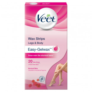 Veet Ready To Use Wax Strips For Normal Skin 20 Strips