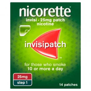 Nicorette Invisi 25mg (Step 1) Nicotine – 14 Patches
