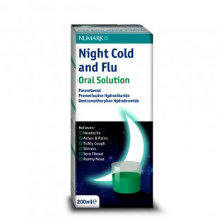 Numark Night Cold & Flu Oral Solution - 200ml