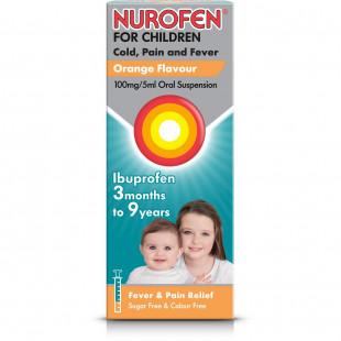 Nurofen For Children Orange Flavour 100mg/5ml Oral Suspension - 100ml