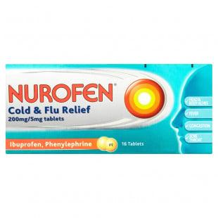 Nurofen Cold & Flu Relief 200mg/5mg – 16 Tablets