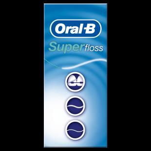 Oral-B Super Floss Mint - 50 Pre-Cut Strands
