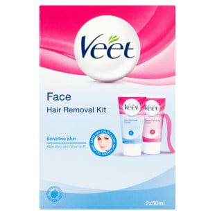 Veet Face Hair Removal Kit Sensitive Skin Twin Pack