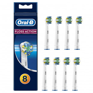Oral-B Floss Action Replacement Toothbrush Heads - Pack of 8
