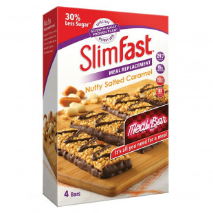 SlimFast Meal Replacement Nuty Salted Caramel 4 Bars