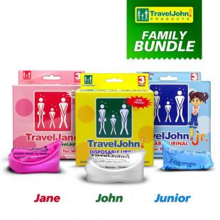 TravelJohn Disposable Urinal Family Bundle