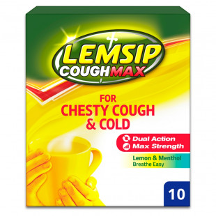 Lemsip Cough Max For Chesty Cough & Cold – 10 Sachets