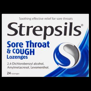Strepsils Sore Throat & Cough – 24 Lozenges