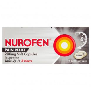 Nurofen Pain Relief 200mg Soft Capsules - 16 Pack