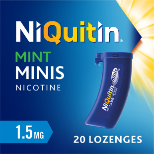 Niquitin Minis Mint Lozenges 1.5mg - Pack of 20