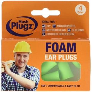 Hush Plugz Foam Ear Plugs Ideal for DIY - 4 Pairs