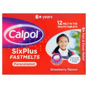 Calpol SixPlus Fastmelts - 12 Tablets