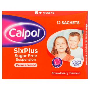 Calpol SixPlus Sugar Free 12 x 5ml Sachets